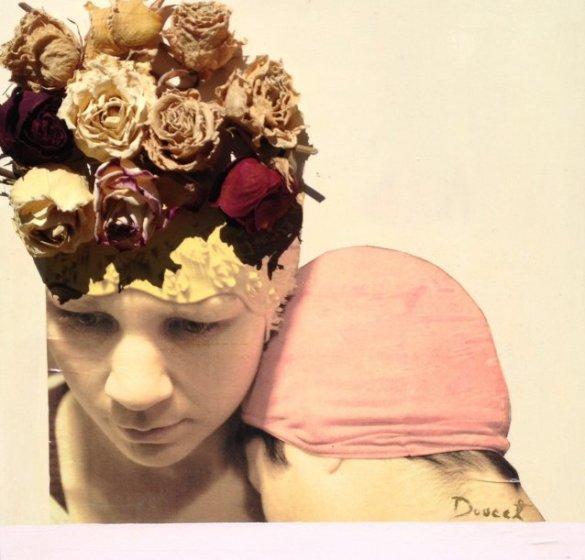 «Amitié», peinture acrylique, roses, © Véronique Doucet (photographie de Christian Leduc), 2014, sur http://culturat.org/boutique/items/amitie