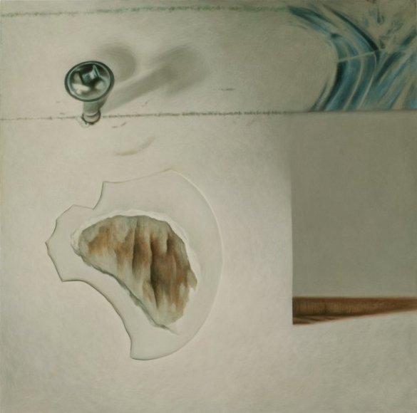«C'eût été bien pire avec de la PL», acrylique sur toile montée, ©Brigitte Toutant, 2009, en vente sur http://culturat.org/boutique/items?item_id=599