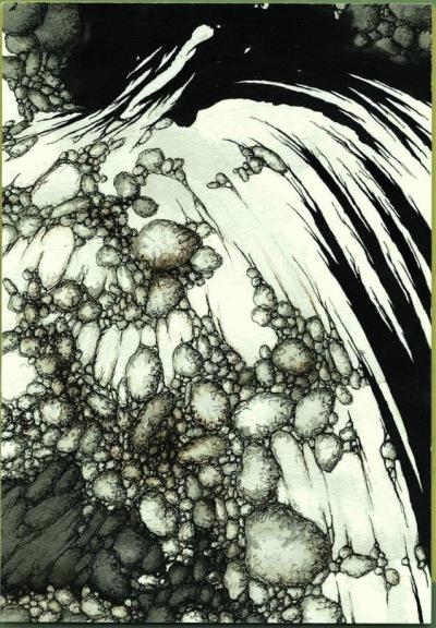 «64 Dessin, série Failles», dessin à l'encre, ©Luc Boyer, 2015, sur http://culturat.org/boutique/items/64-dessin-serie-failles.