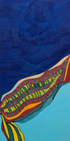 « Bleu azur », Acrylique sur panneau de fibres de bois, ©Carole-Yvonne, 2014, sur http://culturat.org/boutique/items/bleu-azur.